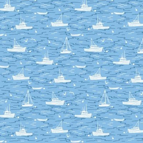 Harbor Boats light blue tiny