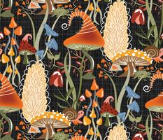 Lolamer - Fantasy Fall Fungi - Black
