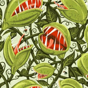 Monster Plant Graphic - Green