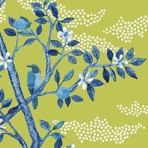 CITRUS GROVE TOILE BLUES ON CITRON
