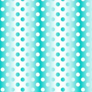 Grande aqua white gradient dots