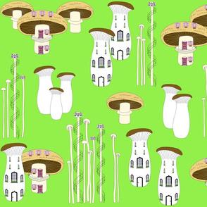 Mushroom Houses Springtime 2020