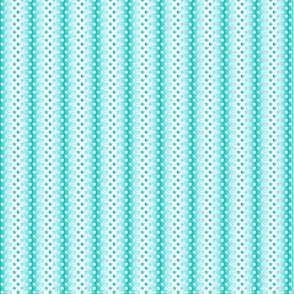 Petite aqua white gradient dots