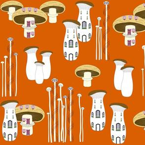 Mushroom Houses Sunset 2020