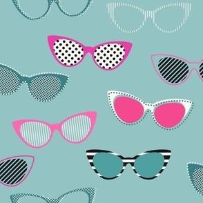 Glasses 1950s pink