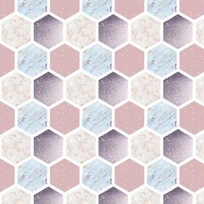 Pastel Hexagon Pattern