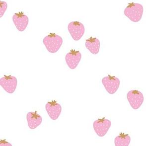 The minimalist strawberry boho fields Scandinavian fruit garden pink white