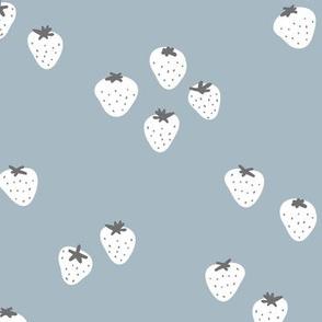 The minimalist strawberry boho fields Scandinavian fruit garden neutral mauve purple white