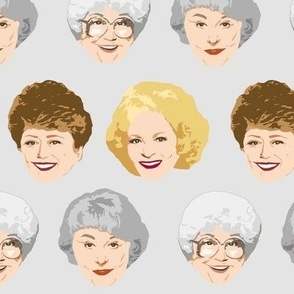 Golden Girls Faces - Large Gray