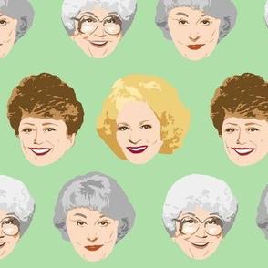 Golden Girls Faces - Large Green