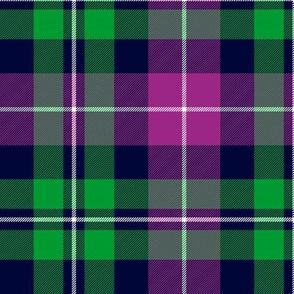 """MacNeil tartan, 6"""" green and purple"""