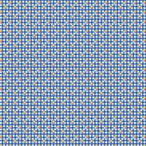 Petite blue gingham triple berries