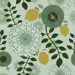 """Lemon Garden (12"""") - green"""