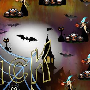Gothic trick-or-treat spiderweb repeat