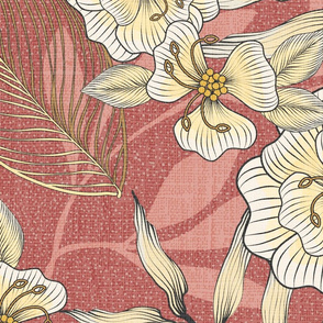 Bella Nora red floral pattern