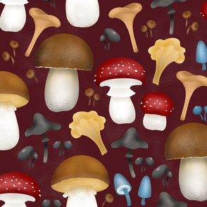 Mushrooms-on-vine
