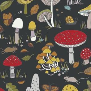 70s mushrooms - retro multi