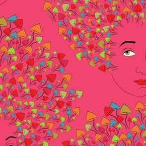 mushroom experience pink