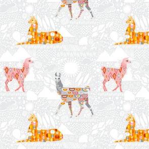 Llamas Grey Pink OJ (Small)