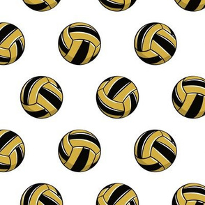 gold and black volleyballs - LAD20BS
