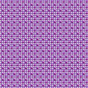 Petite purple gingham triple berries