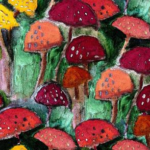 painterly mushrooms