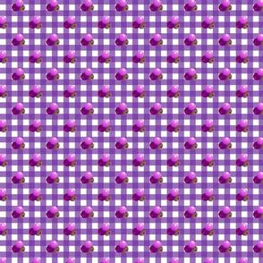Medium purple gingham triple berries