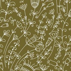 Olive Wild Flowers