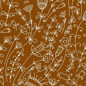 Cinnamon Wild Flowers