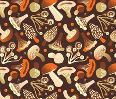 mushrooms | warm brown