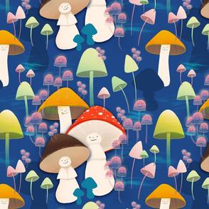 Mushrooms ontop of mushrooms