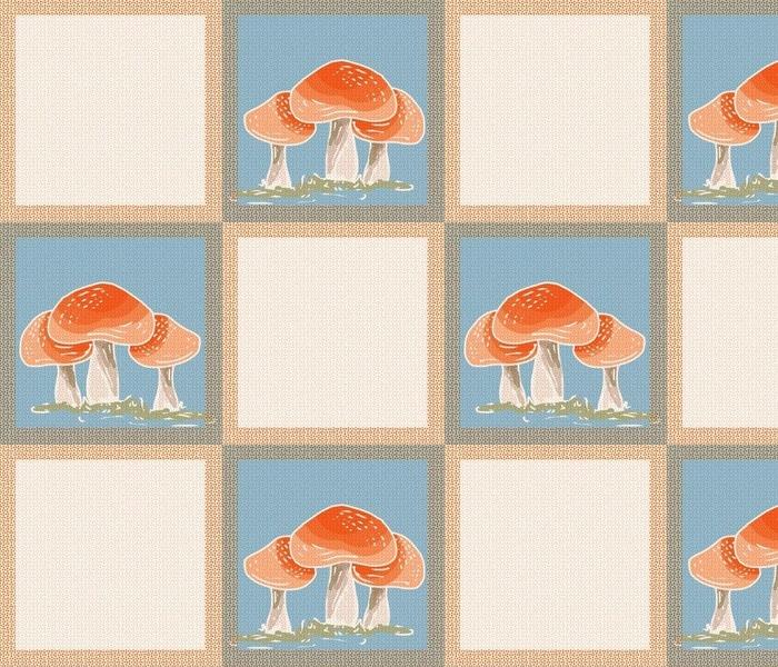 Mushroom Checkerboard