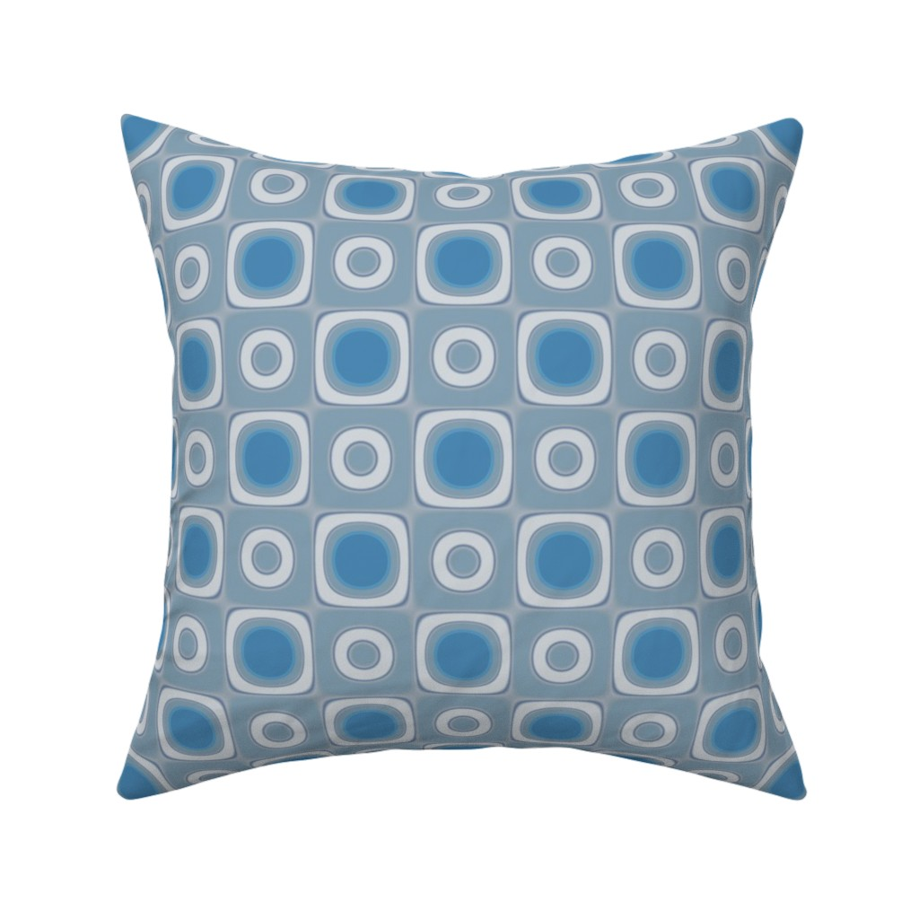 Catalan Throw Pillow featuring Limestone Squares and Circles © Gingezel™ by gingezel
