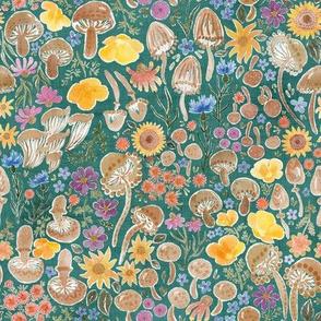 "Boho Mushrooms & Blooms 8"""