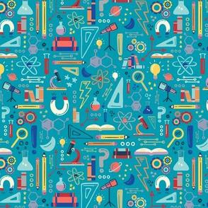 STEM Science Small Scale for Face Mask © ZirkusDesign // Dino Einsteins // T-Rex, Stegosaurus, Triceratops, Pterodactyl, Spinosaurus, Tyrannosaurus // Paleontology, Chemistry, Physics, Math, Algebra, Calculus, Astronomy, Biology, Anatomy, Axes, Axis, Magn