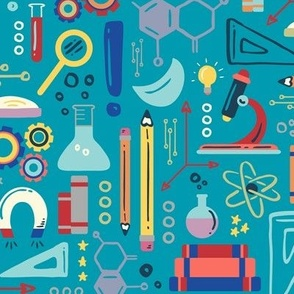 STEM Science  © ZirkusDesign // Dino Einsteins // T-Rex, Stegosaurus, Triceratops, Pterodactyl, Spinosaurus, Tyrannosaurus // Paleontology, Chemistry, Physics, Math, Algebra, Calculus, Astronomy, Biology, Anatomy, Axes, Axis, Magnet, Electromagnetics