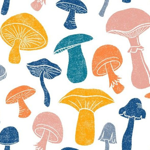 Happy Mushrooms by Angel Gerardo - Large Scale