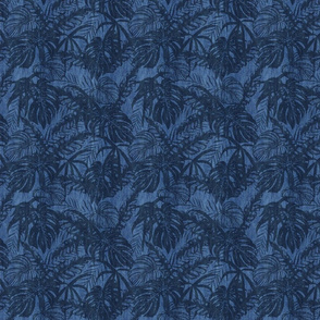 Tropical Blue Jeans Design Dark Smaller