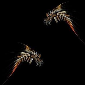 fractal phoenix - large