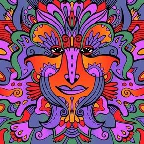 Goddess #2 /  Psychedelic / Red, Violet, Blue