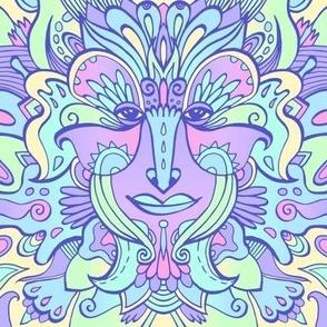 Goddess #2 /  Neon / Blue, Violet