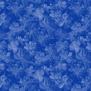 Watercolor Wild Flowers / Blue