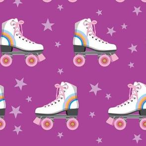 Roller Rink* (Rainbows on Vesuvius) || skates roller-skate rollerskate skating stars 70s 80s disco purple