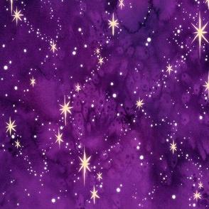 Purple Watercolor Galaxy