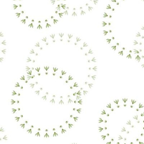 Summer Solstice Florets (green on white)
