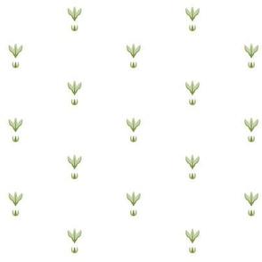 Summer Solstice Florets Grid (green on white)