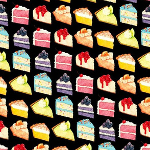 Rainbow Cakes & Pies - Black