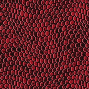 ★ REPTILE SKIN ★ Garnet Red - Large Scale / Collection : Snake Scales – Punk Rock Animal Prints 4
