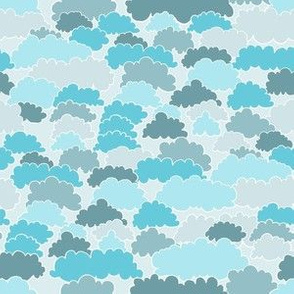"Clouds (6 "") - blue"