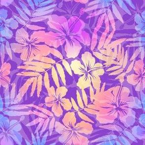 Violet pearl tropic flower